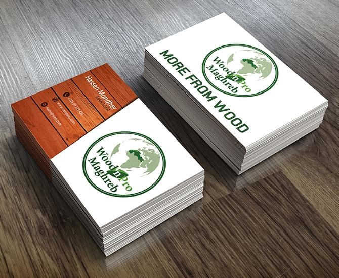 Carte visite Wood'n pro maghreb